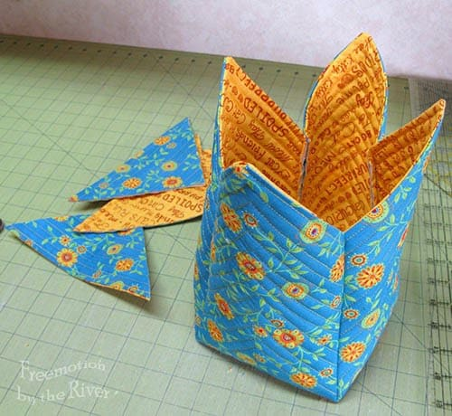 Fast and Easy Fabric Basket Tutorial Update