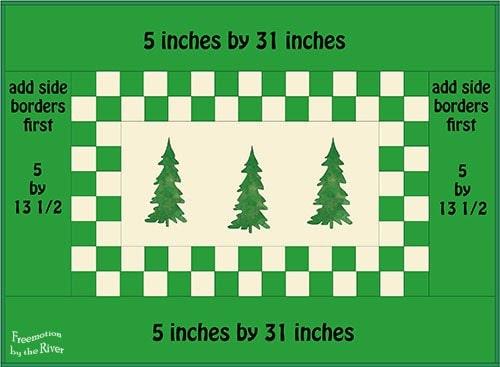 Borders on Evergreen Tree runner
