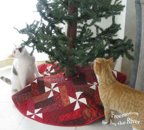 Tree Skirt and kitties