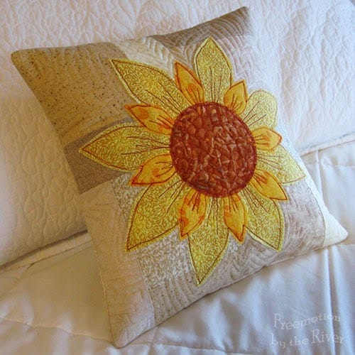 Daisy May pillow at Freemotion by the River