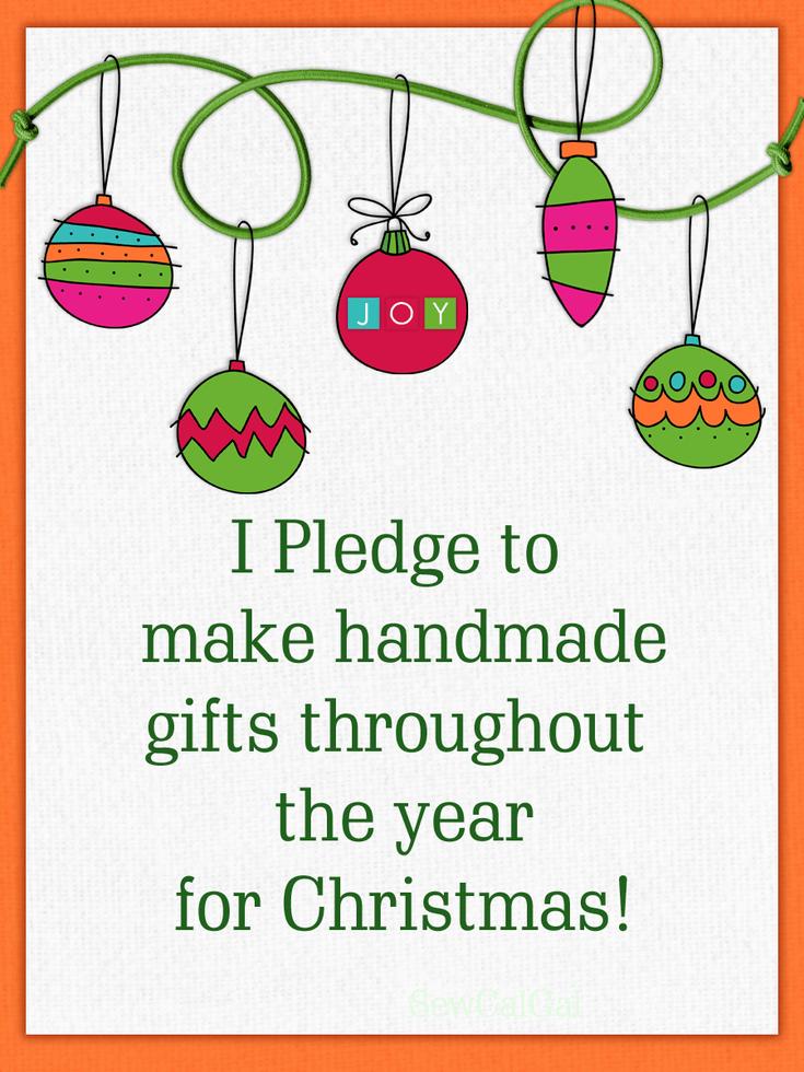 I pledge to make handmade gifts