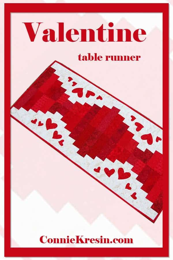 Easy to make Valentine's Day table runner