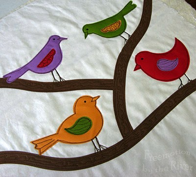 Birds before quilting at Freemotion by the River