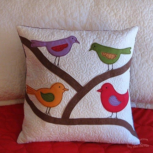 Kona bird pillow at Freemotion by the River