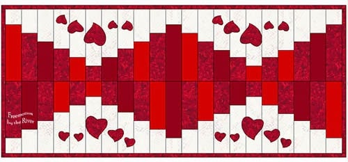 Valentine Table runner project in EQ7