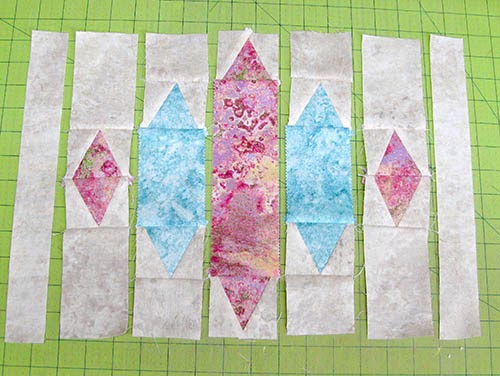 Blue Sapphire quilt pattern baby quilt in Marblehead piecing