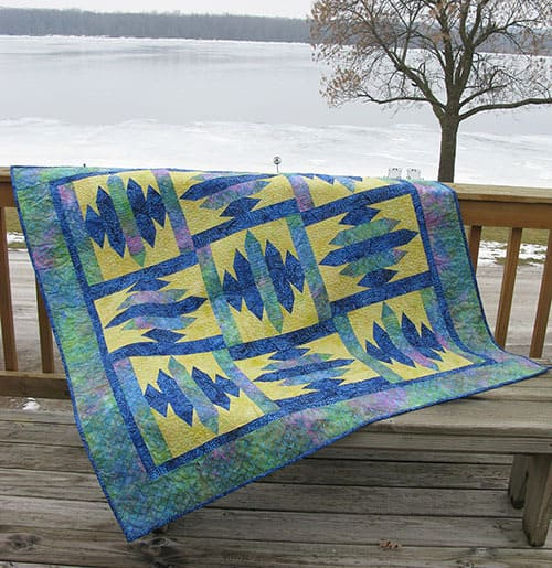 Blue Sapphire quilt down by the river