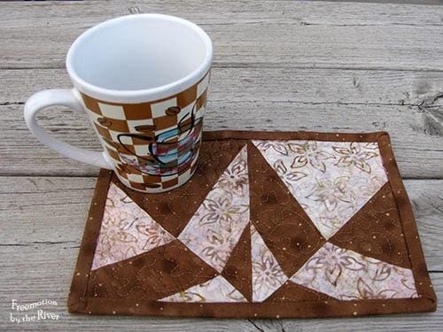 Batik Mug Rug Day and Night pattern