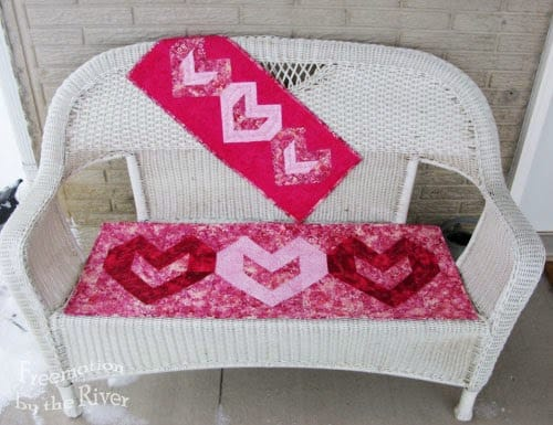 3 Tutorials for Valentine quilts and projects