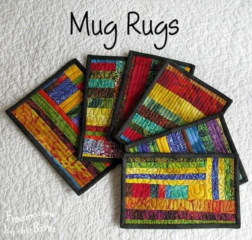Mug Rugs from scraps