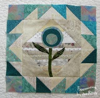 Teal Flower Block Tutorial