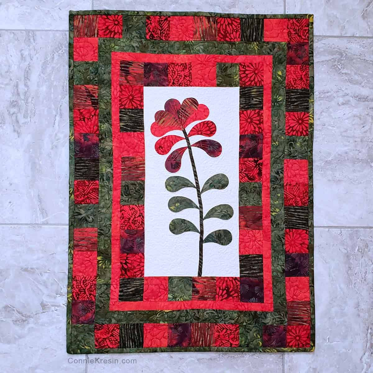 Island Flower wall hanging tutorial