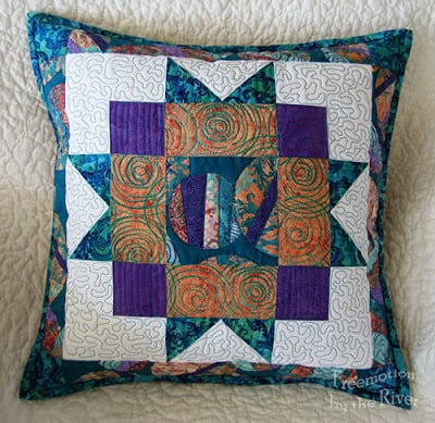 Another Star sampler block made into a pillow