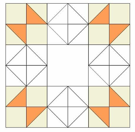 orange blocks placement