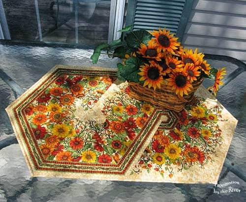 Triangle Flower Table Runner
