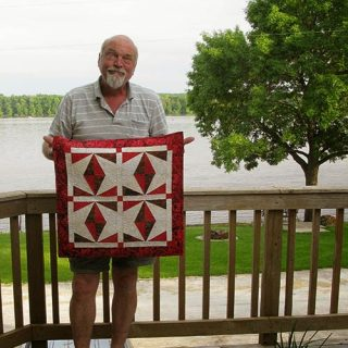 Berry Wings quilt wall hanging