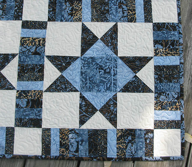 Free quilt pattern River Espresso Ohio Star quilting