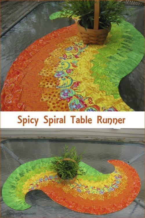 Spicy Spiral TableRunner