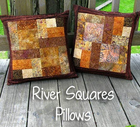 River Squares Pillows