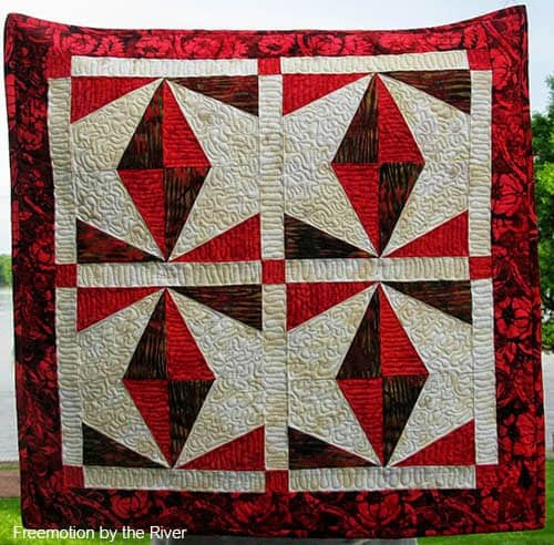 AccuQuilt Berry Wings quilt wall hanging