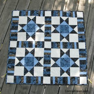 Ohio Star Quilt blocks made into a quilt