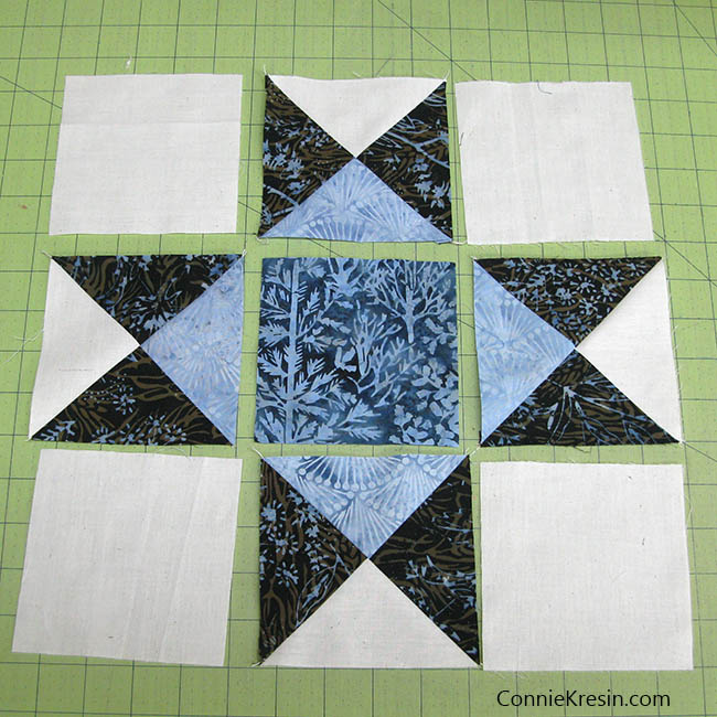 Ohio Star River Espresso quilt block