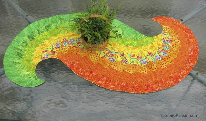 Spicy Spiral Table Runner Freemotion By The River
