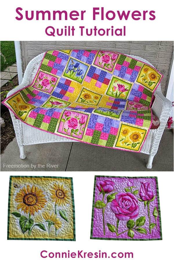 Summer Flowers Quilt Tutorial