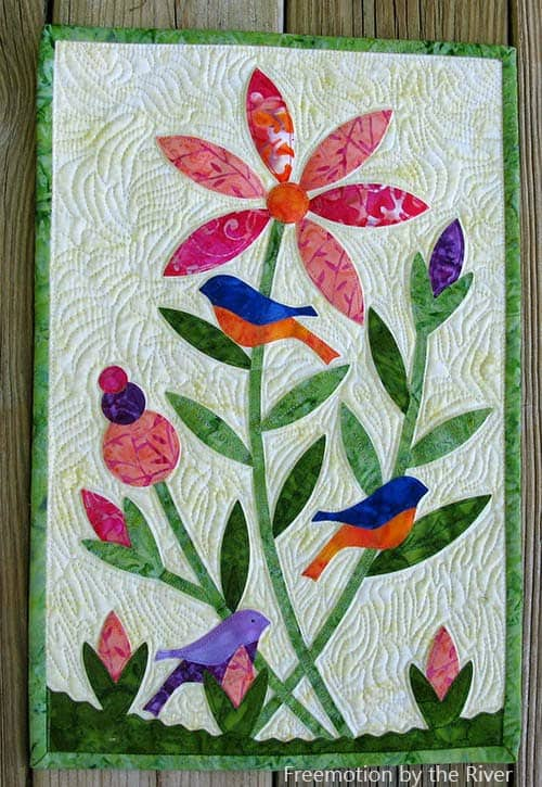 AccuQuilt Birds in the Flowers