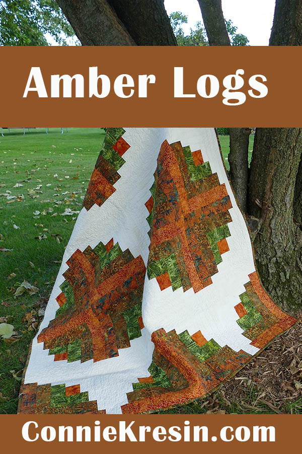 Amber Logs batik quilt pattern quilt fast and easy to make