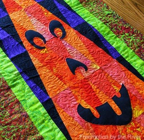 Island Batik fabrics Halloween Wall hanging