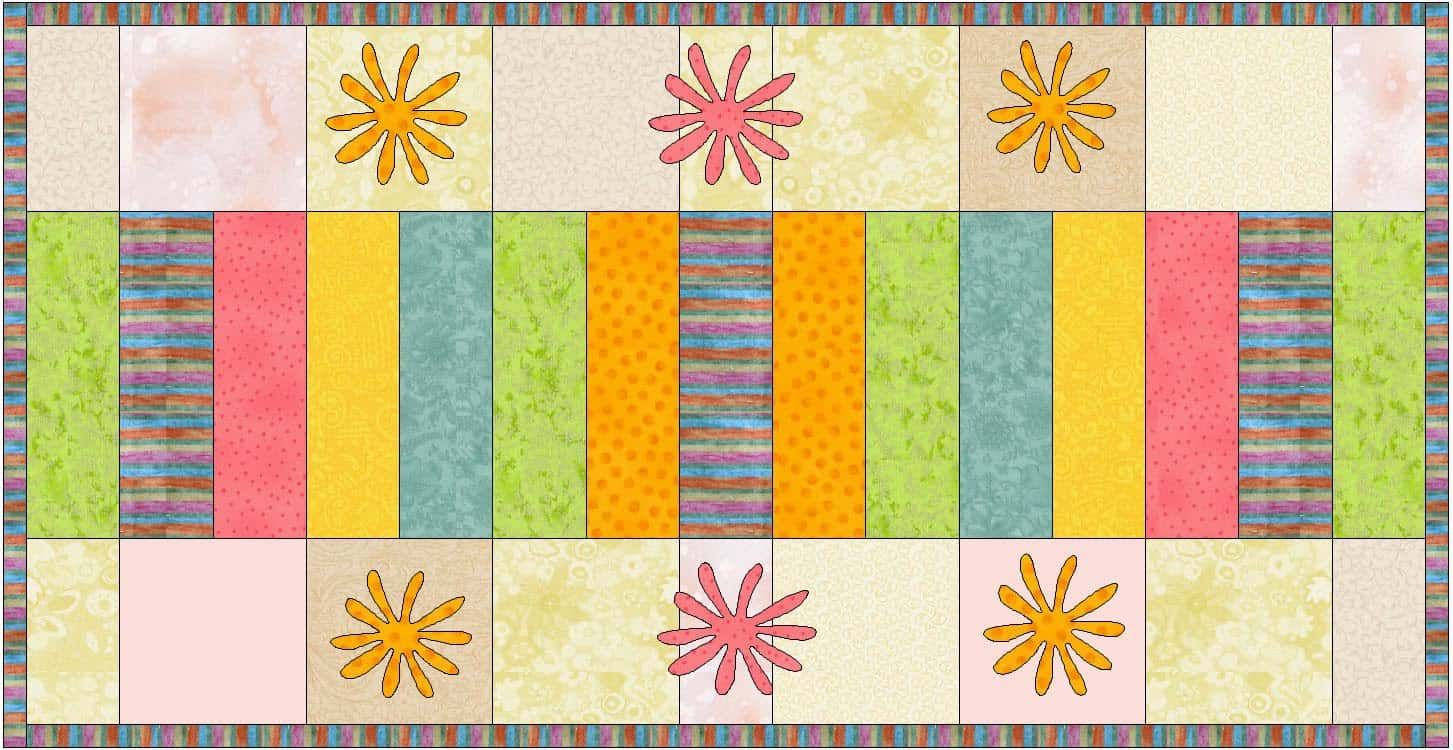 Sherbet Stripes Table Runner at Freemotion by the River