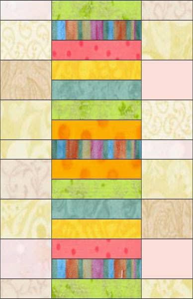 Sherbet Stripes Table Runner Tutorial