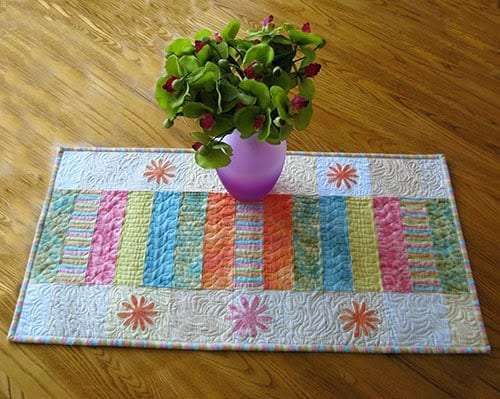 Sherbet Stripes Table Runner Tutorial
