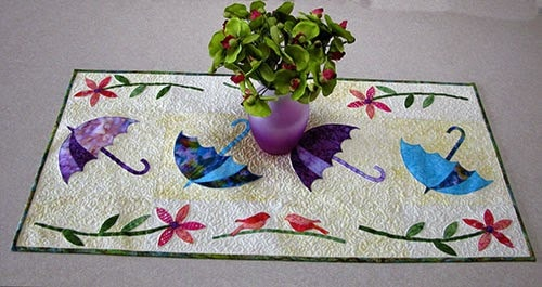 Dancing Umbrellas Table runner