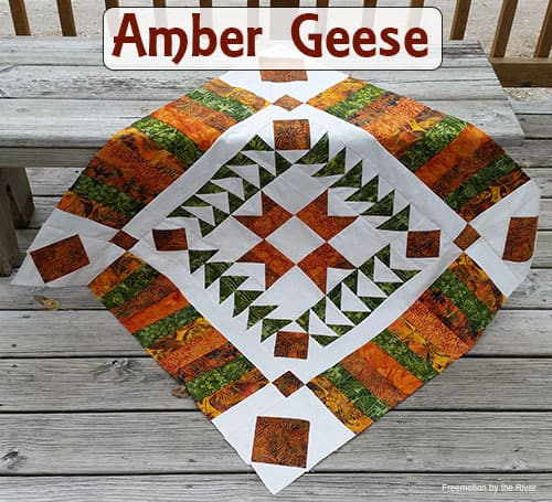 Amber Geese Quilt Part One