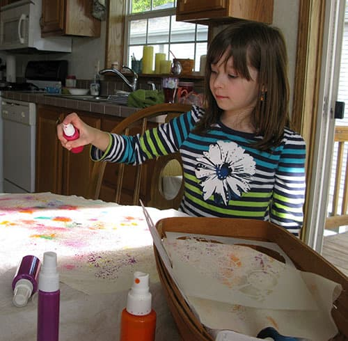 Learn how to spray the paints