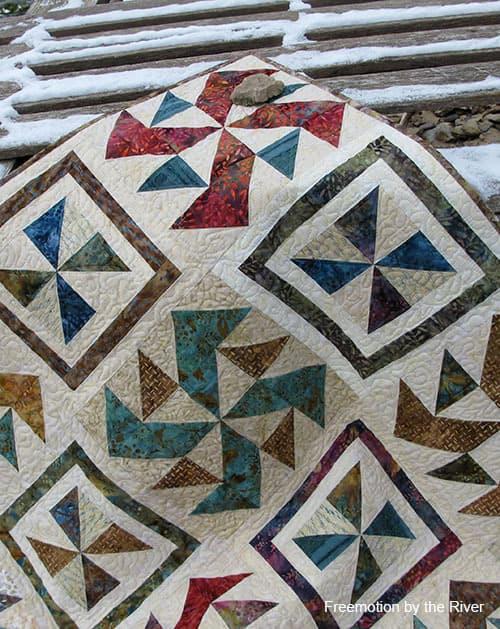Spinners Batik Quilt