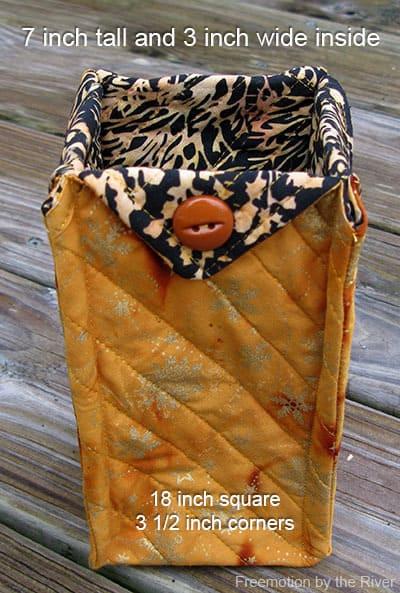 Fabric Basket tutorial fabrics skinny tall basket