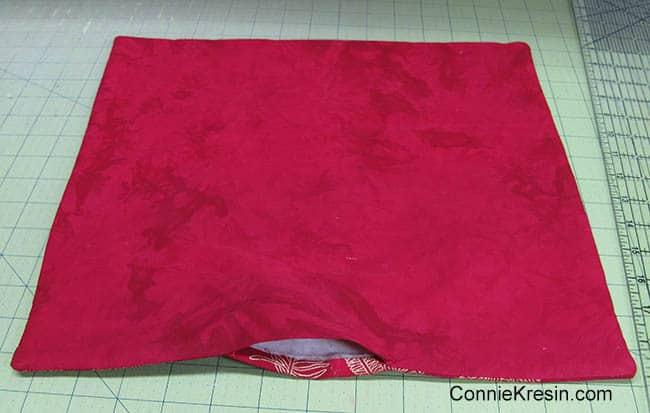 Fabric Basket tutorial leave opening