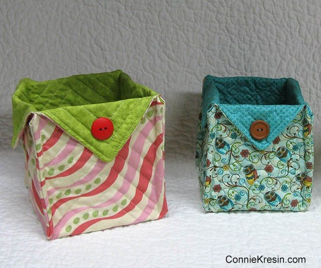 Fabric Basket tutorial 2 sizes