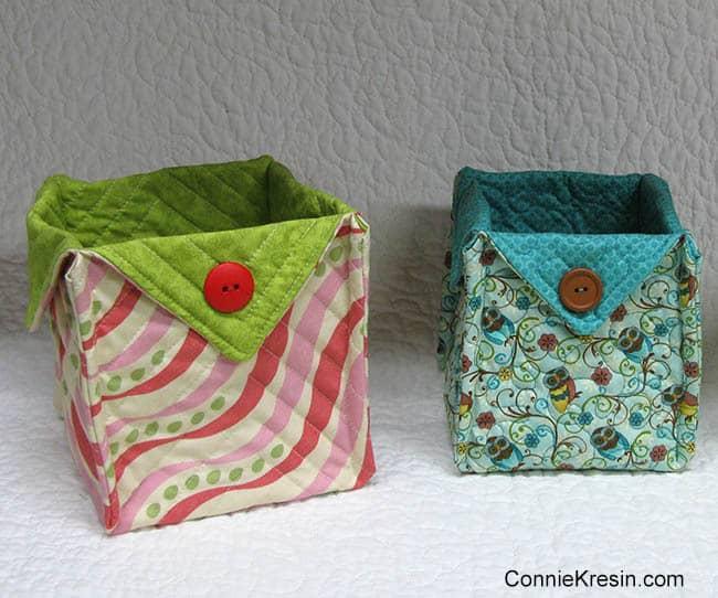 Fabric Basket tutorial 2 sizes