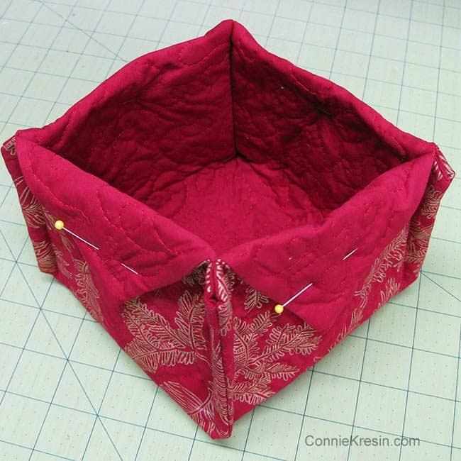 Fabric Basket tutorial fabrics fold flaps