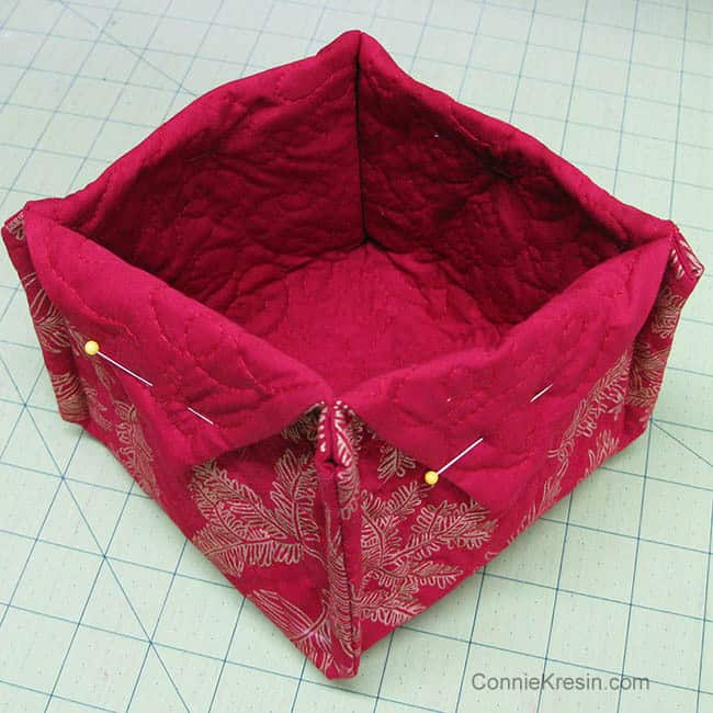 Fabric Basket tutorial fabrics fold flaps