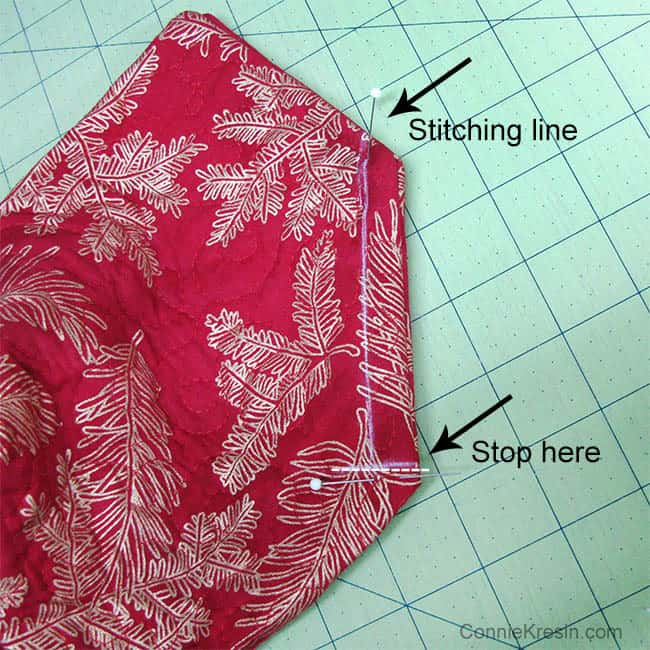 Fabric Basket tutorial fabrics stitching line