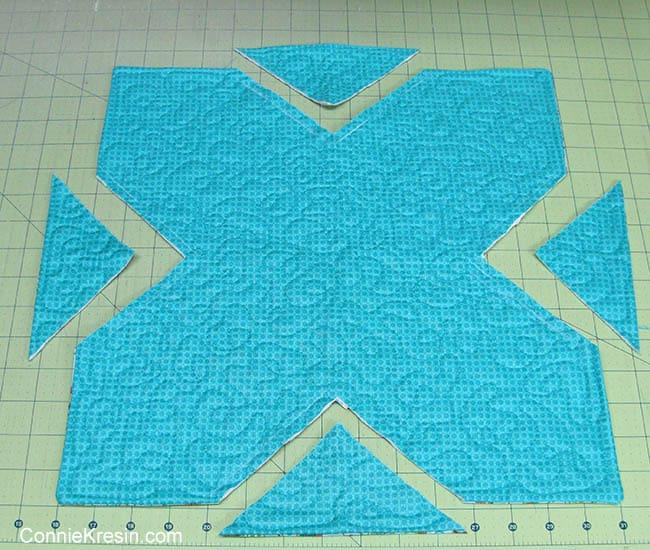 Fabric Basket tutorial how to cut corners