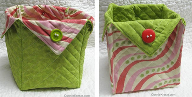 Fabric Basket tutorial inside out