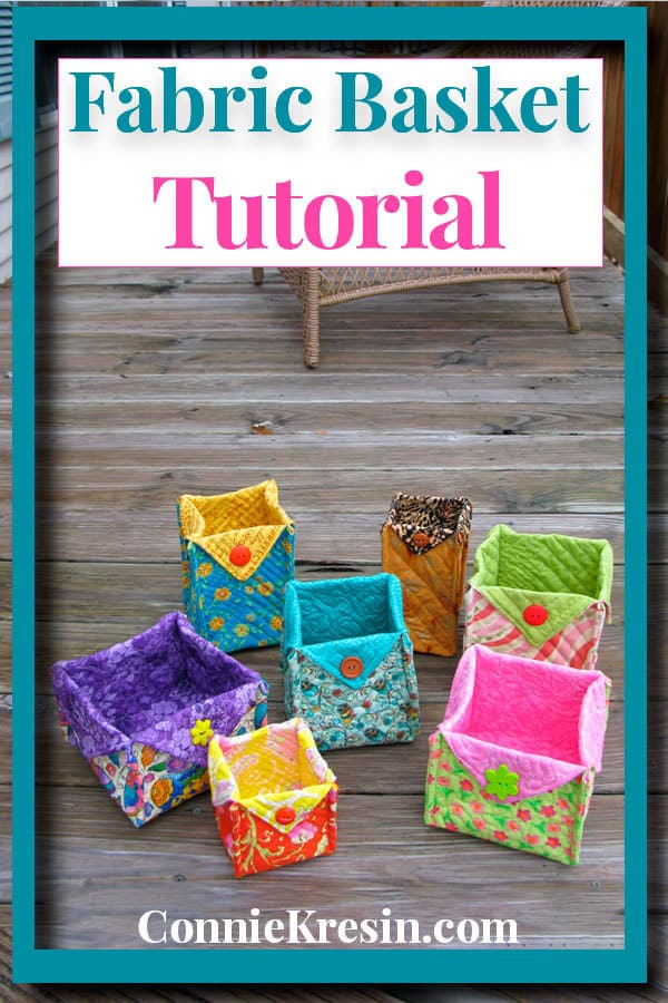 Quick and easy tutorial for a quilted fabric basket in many sizes