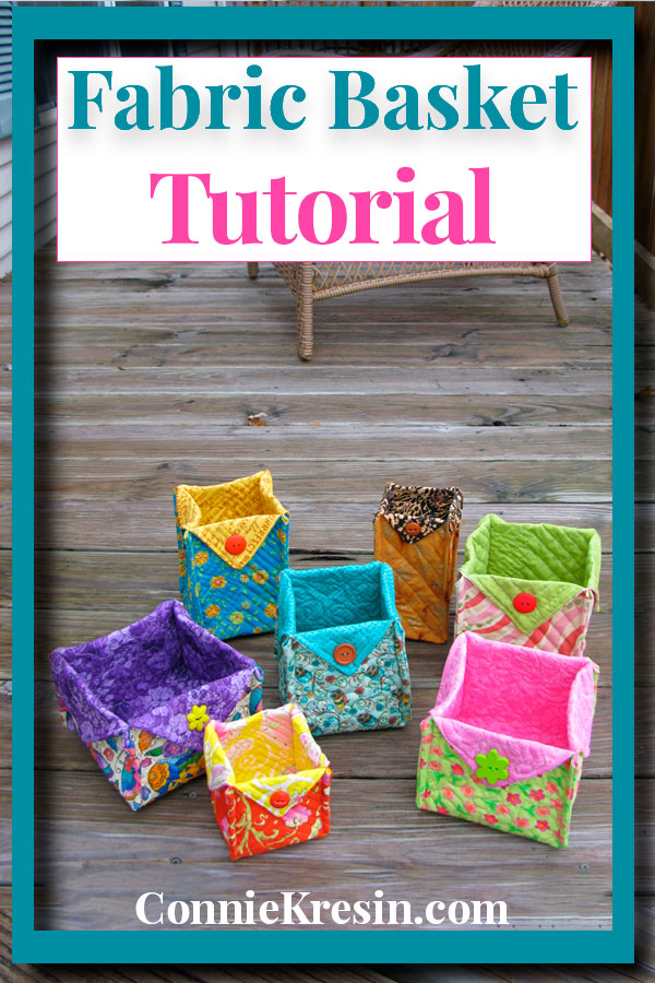 Easy Fabric Basket Tutorial takes no time at all to make