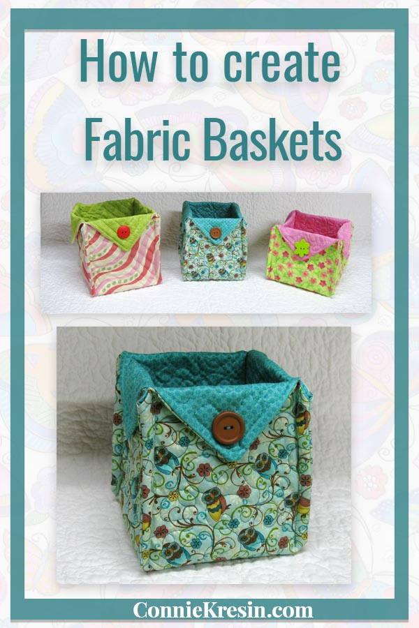Fabric baskets make a great gift following this easy tutorial